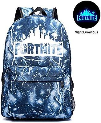 FOONEE Mochila Luminosa de Fortnite, Mochila Escolar Fortnite Battle Royale Mochila Cuaderno Mochila Diaria para niños y niñas, 07