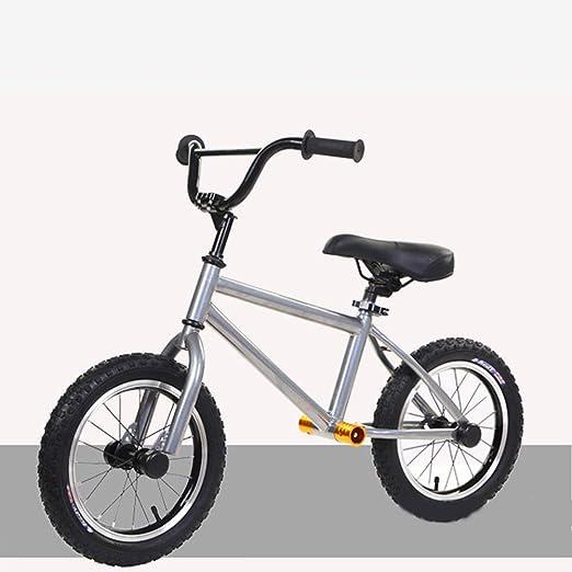 RR-Bike 14 Pulgadas, Bicicleta De Equilibrio De Aluminio para Niños Y Niños Pequeños - No Pedal Sport Training Bicycle para Niños De Edades 3,4,5,6,7,8, Regalos,White: Amazon.es: Hogar