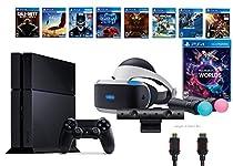 PlayStation VR Launch Bundle 9 Items:VR Launch Bundle,PS4 Call of Duty,7VR Game Disc Until Dawn,Rush of Blood,EVE:Valkyrie, Battlezone,Batman:Arkham VR,DriveClub,Eagle Flight,Combat League