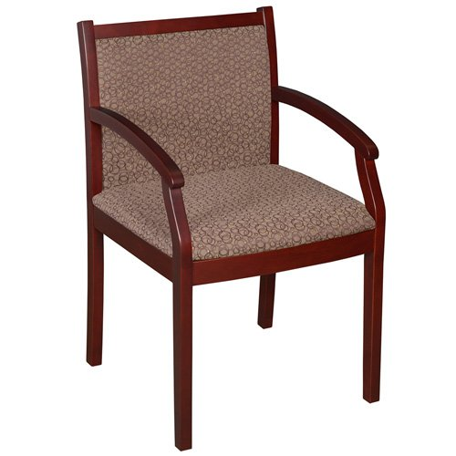 Designer Fabric Guest Chair - Upholstered Fabric Office Guest Chairs, Designer Side Chairs, Reception Waiting Room Lounge Chairs, Hotel Lobby (One Size (Mahogany Frame), Zippy 955)