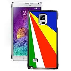 Beautiful Unique Designed Cover Case For Samsung Galaxy Note 4 N910A N910T N910P N910V N910R4 With Seychelles Flag Black Phone Case