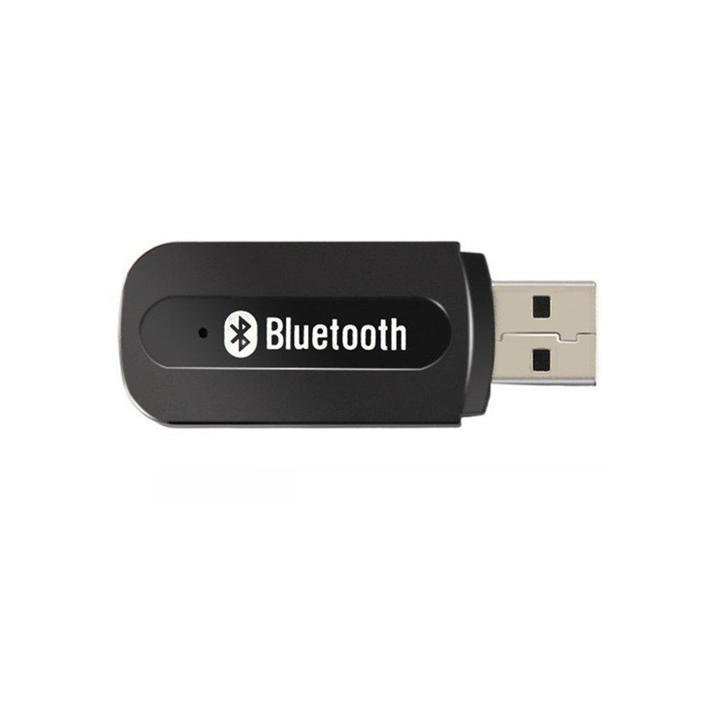 Andven Recepteur de Bluetooth d'audio sans Fil pour la Voiture, Portable USB 3.5mm AUX Recepteur, Adapté à Tous Les appareils Android et iOS Apple en Adapté à Tous Les appareils Android et iOS Apple en