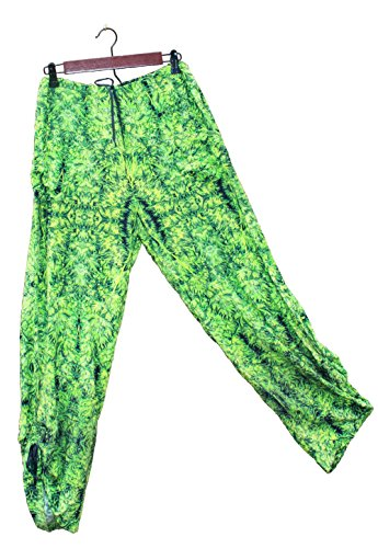 Hawaiian Floral Harem Pants Amnesia Kush Wedding Resort Beachwear XL/XXL by Cannaflage Designs