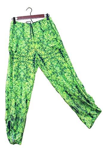 Hawaiian Floral Harem Pants Amnesia Kush Wedding Resort Beachwear M/L by Cannaflage Designs