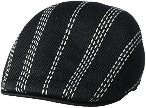 Kangol Men's Float Stripe 507 IVY Cap, Black/Gray, M