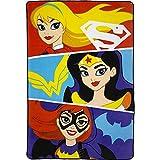 DC Superhero Girls Plush Blanket Full Size - 62 in. x 90 in.