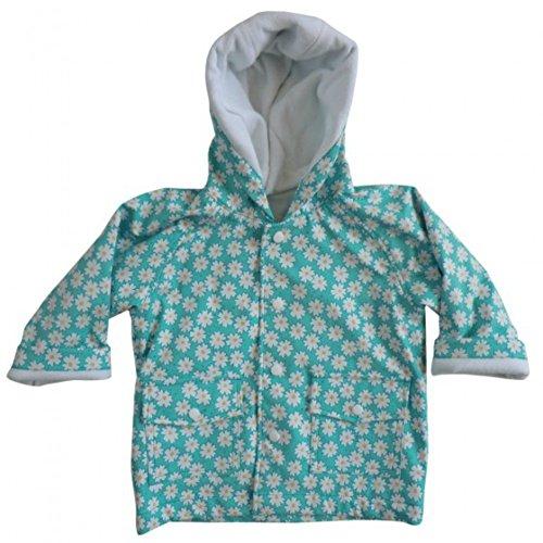 Powell Craft Big Girls Daisy Raincoat/jacket.blue. (6-7 years)