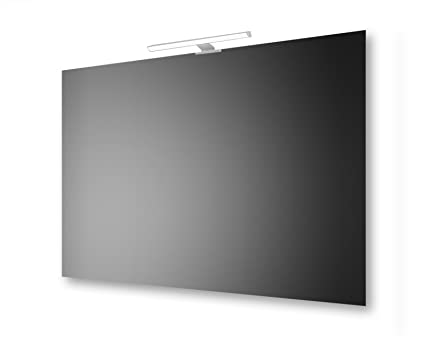 Specchio a filo lucido 100x70 cm san marco con lampada led: amazon