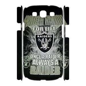 3D Samsung Galaxy S3 Case Oakland Raiders Team Logo, Tyquin, [White]