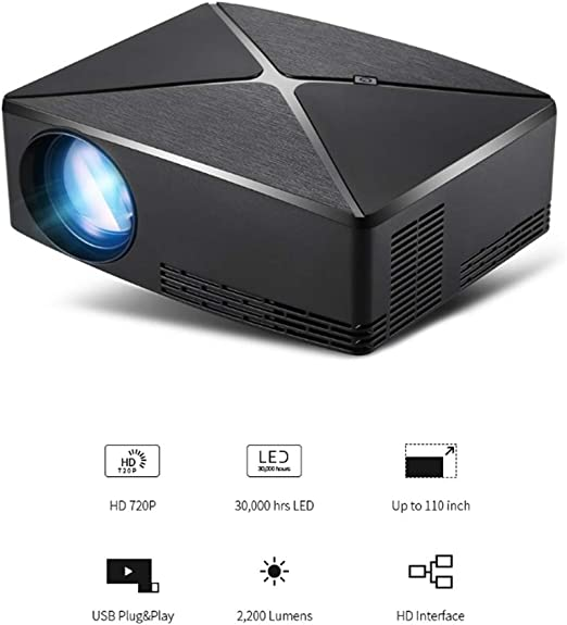 WF Proyector 3D WiFi Full HD, Versión Mini Mejorada 2800 Lúmenes ...