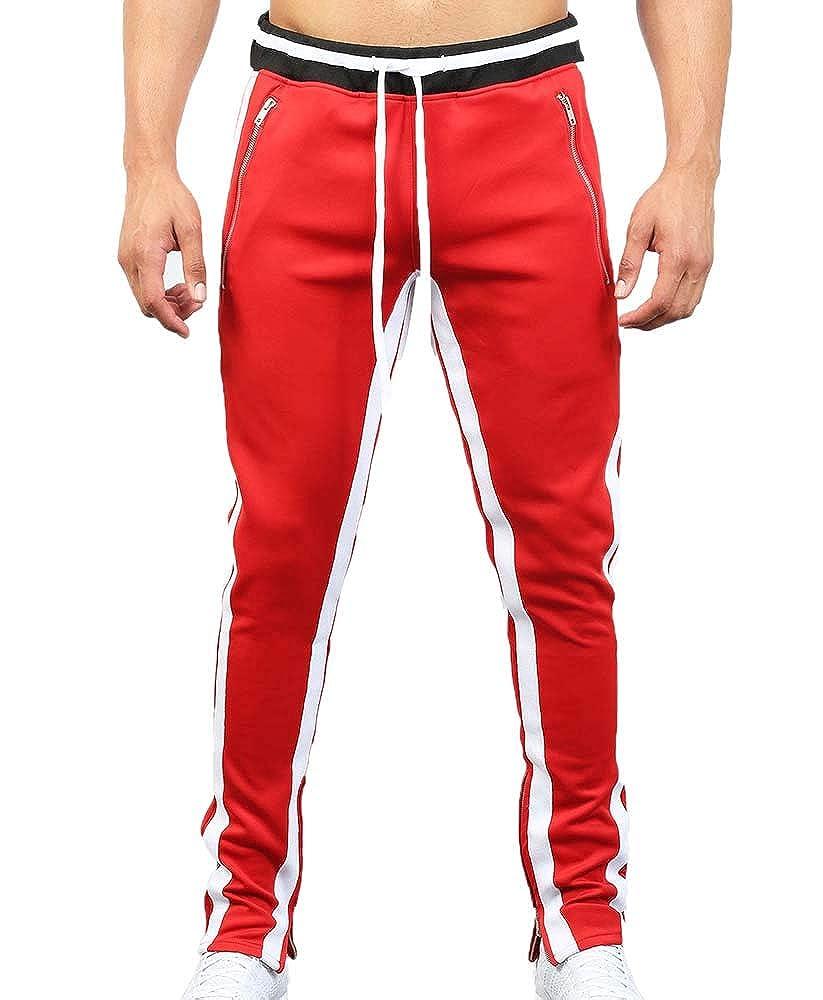 Pantaloni Sportivi Allentati Casuali, Pantaloni con Coulisse e Tasche con Cerniera 1