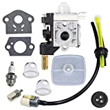 IKADEER Carburetor with Spark Plug Gasket Fuel Maintenance Kit for ECHO GT200 GT201i HC150 HC151 PE200 PE201 PPF210 PPF211 SRM210 SRM211 Trimmer Brushcutter
