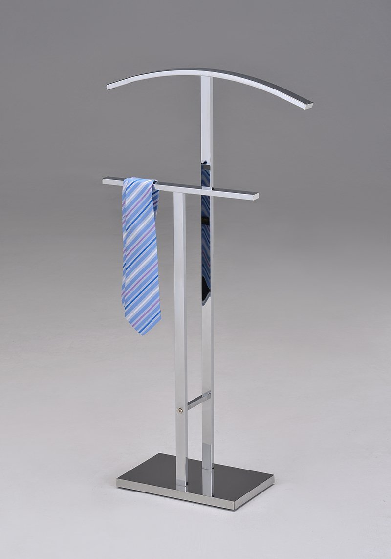 Kings Brand Furniture Chrome Finish Metal Suit Rack Valet Stand CH-4747