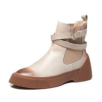 Zapatos Casuales De La Mujer Cuero 2018 Primavera/Fall/Winter Nuevo Confort Transpirable Botas