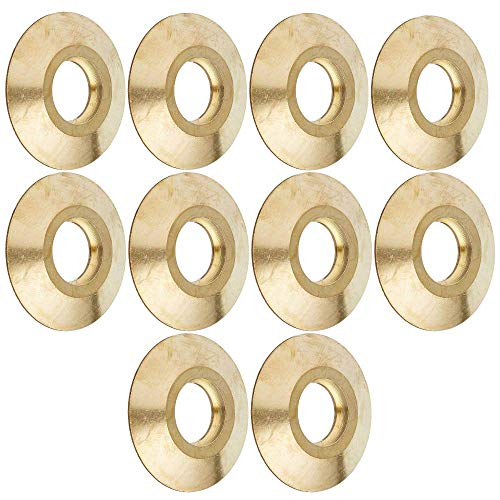 Wood Grip MCO-10 Brass Anchor Collar for Pool Safety Covers - 10 Pack