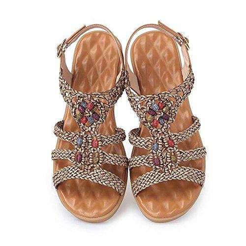 Planas Para Zapatos Romanas Mujeres Sandalias Viento Verano De RLqc54j3A