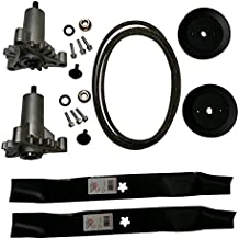 Mr mower parts deck rebuild kit for craftsman poulan Husqvarna included 2 heavy duty spindles 130794, 2 mulcher blades 134149, 2 pulleys 173436, deck belt 144959 95""