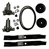 Mr mower parts deck rebuild kit for craftsman poulan Husqvarna included 2 heavy duty spindles 130794, 2 mulcher blades 134149, 2 pulleys 173436, deck belt 144959 95''