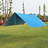 Li Na Home Outdoor awning Beach multi-person camping shed Sun protection rain shelter 3 people - 4 people awning (Color : Blue, Size : 300cm(118 inches))