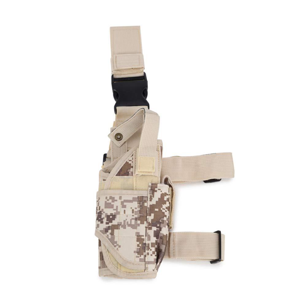 Xuxuou Bolsa de Pierna Estilo Militar Táctical de Bolsa de Muslo Riñonera para Herramientas Size 8 * 5 * 20 * 25cm (Beige)