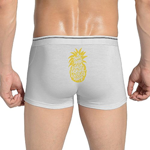 (Mkajkkok A Pineapple A Day Keeps The Worries Away Men's Underwear Cotton Stretch Panties Underwear.)