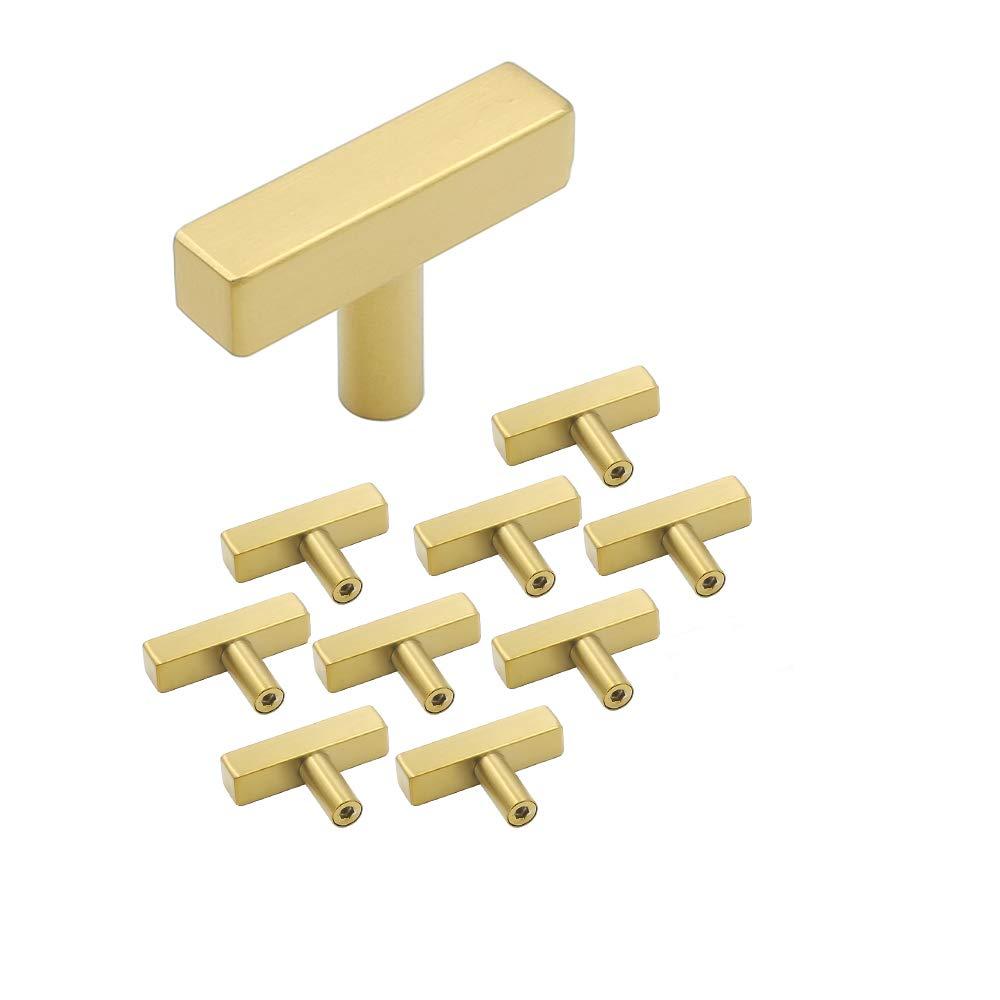 Maniglie per mobili 10/pezzi in acciaio inox quadrangolare tubo oro porta manopole LS12/12gd ottone Armadio Maniglia Barra Maniglia cassetto maniglia barra maniglia con vite