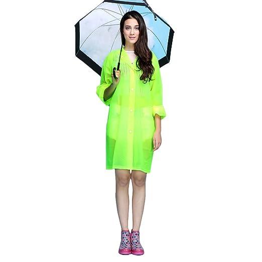 7d2329cd853 Amazon.com  Women Hooded Raincoat Fast Dry Cute Waterproof ...