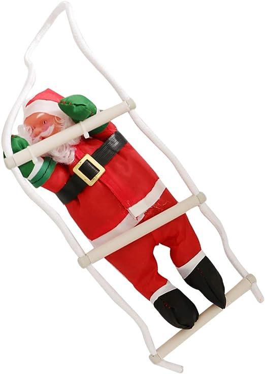 LOVIVER Escalera Navidad Papá Noel Escalera Muñeca Árbol De Navidad Colgando Fiesta Regalo Juguetes - 1 Santa, Tal como se Describe: Amazon.es: Hogar