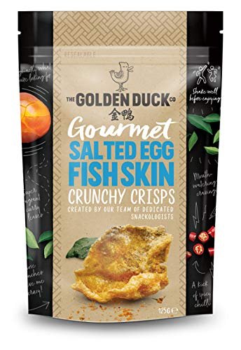 The Golden Duck Gourmet Salted Egg Yolk Fish Skin Crisps Chips (2 Pack)