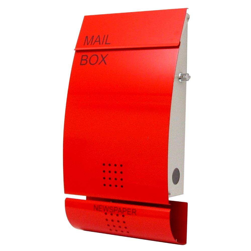 EUROデザイナーズポスト MB4502 レバータイプ鍵付き レッド 新聞受け有 MB4502-KL-red 65 B00KYK7VMQ 22000 扉:レッド / 本体:オフホワイト 扉:レッド / 本体:オフホワイト