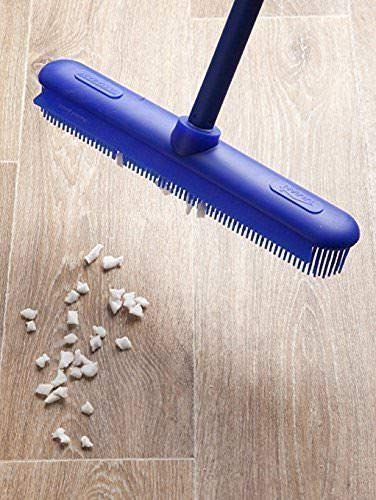 Electrostatic Silicone Broom For Dust and Dirt - Electrostatic Broom For Pet Hair - No Scratch Silicone Bristles For House Cleaning - Perfect To Clean Cat and Dog Hairs Off Your Furniture