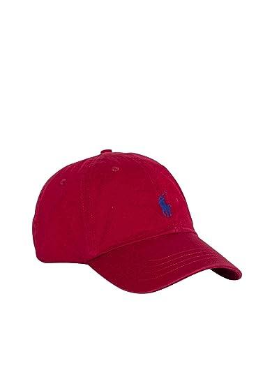 alph Lauren Men s Blouson Baseball Cap - Red - One Size  Amazon.co.uk   Clothing a713818b544