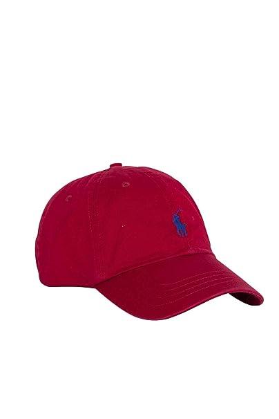 POLO RALPH LAUREN Men - Red ribbed twill cotton baseball cap