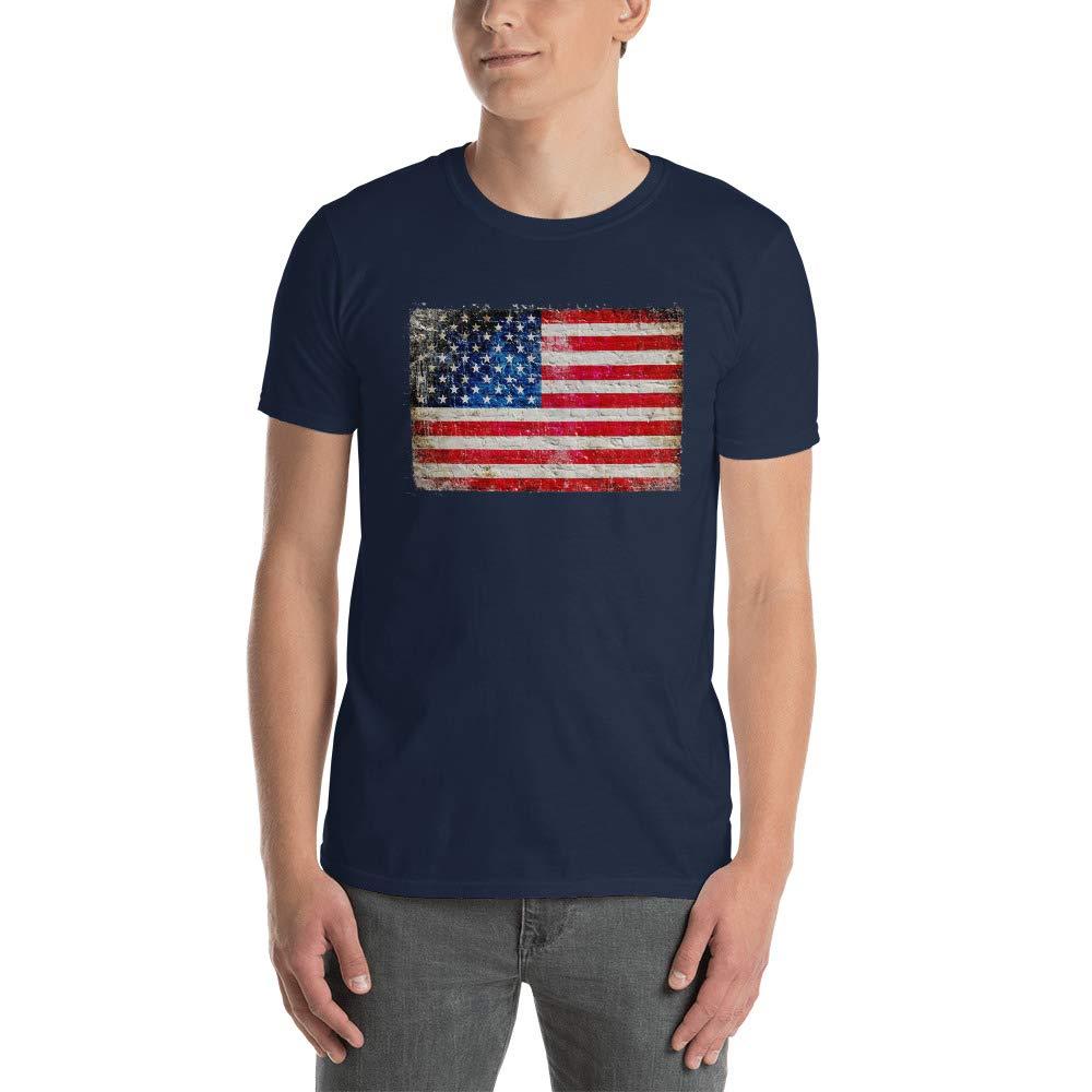 4th of July American Flag Vintage USA Men Women Patriotic Tees Tee Short-Sleeve Unisex T-Shirt