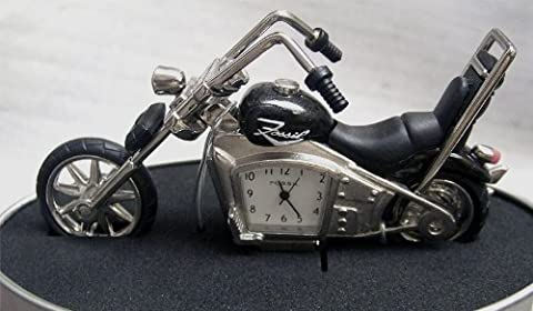 Fossil Motorcycle Novelty Desk Clock Chopper (Fossil Limited Edition)