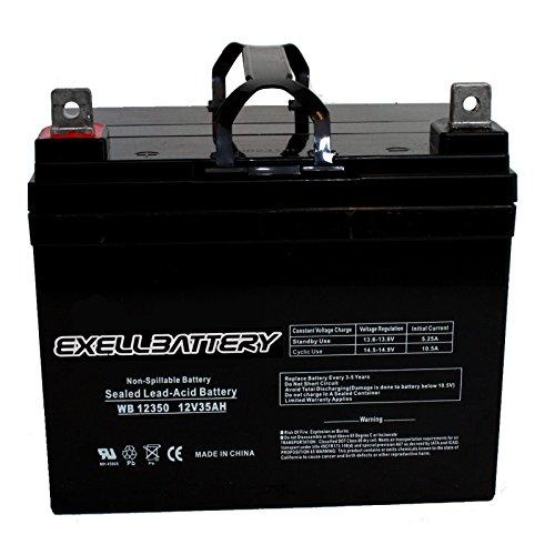 New 12V 35Ah SLA AGM Sealed Lead Acid Battery Battery Replaces UB12350, EB12350IT(Group U1) for PS682 Many Uses Alarm System, fire Alarm, Burglar Alarm, UPS Backup Battery, Smoke Detector, exit Signs