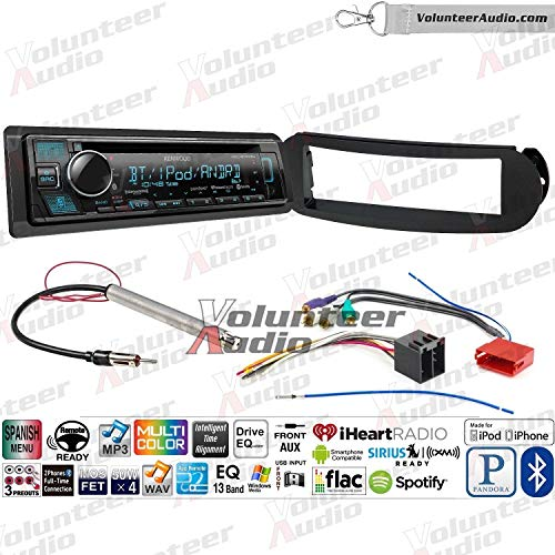 - Kenwood KDC-BT375U Single Din Radio Install Kit With Sirius XM Ready, CD Player, USB/AUX Fits 1998-2010 Volkswagen Beetle - (With Aktiv Factory Amplified System)