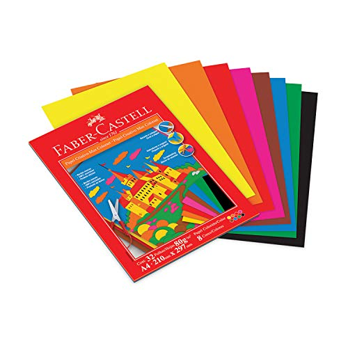 Bloco Criativo Max Colorset 80R 32 Folhas, Faber-Castell, Multicor, A4