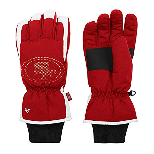 San Francisco 49ers Men's Glade Nylon Ski Gloves - - Shop San Francisco Ski