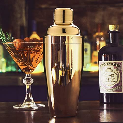 Cocktail Shaker Kit 24Oz Strainer 2 liquor pour Measuring Jigger,Mixing Spoon
