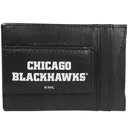- Siskiyou NHL Chicago Blackhawks Unisex Sportslogo Leather Cash & Cardholder, Black, One Size