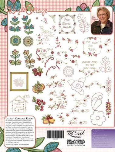 Embroidery Machine Designs USB STICK KAYE'S COTTAGE (Pes Embroidery Card)