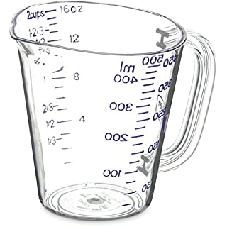 Carlisle 43142AF07 Commercial Plastic Measuring Cup, 1 Pint, Purple (Pack of 6)