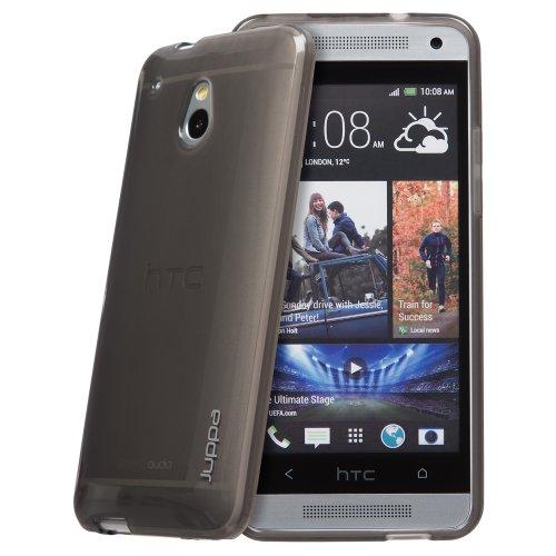 Juppa® HTC One Mini M4 TPU Silikon Tasche Hülle Schutzhülle mit LCD displayschutzfolie - Schwarz / Black