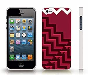 Case For Htc One M9 Cover with Chevron Pattern White/ Red Stripe , Snap-on Cover, Hard Carrying Case (White)
