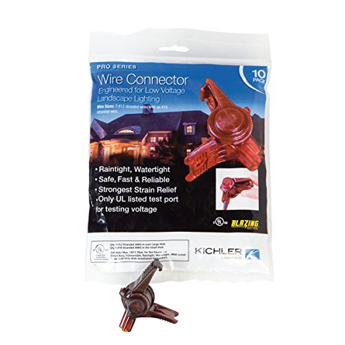 Kichler 15529BL Accessory Pro Connector, Brown, Pack of 10