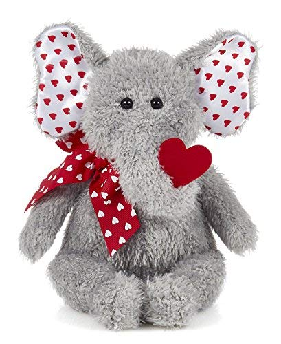 Bearington Hugh Loves You Plush Stuffed Animal Elephant with Heart, 13 inches ()