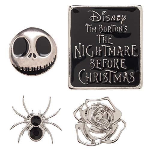 Main Street 24/7 Nightmare Before Christmas Enamel Metal Logo Pin Set of 4 Pins