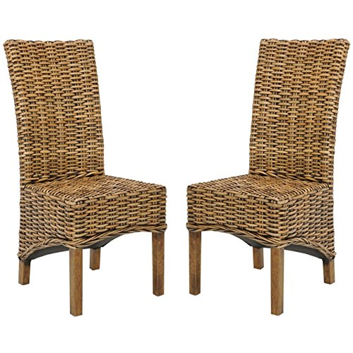 Safavieh Home Collection Isla Brown Dining Chair Set of 2