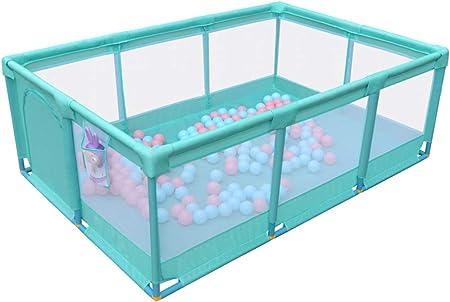 Parque Infantil Grande de 10 Paneles, Valla de Arrastre Rectangular, corralito para niños pequeños/bebés/niños, con Malla y Puerta Transpirables (Color : Playpen)